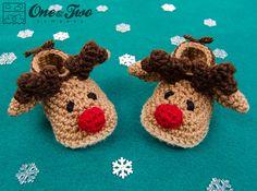 Ravelry: Reindeer Booties - Baby sizes by Carolina Guzman