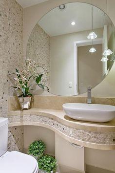 Apartamento Jundiaí: Banheiros modernos por Designer de Interiores e Paisagista Iara Kílaris