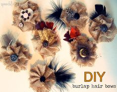 DIY Burlap Crafts: DIY Burlap Hair Bow