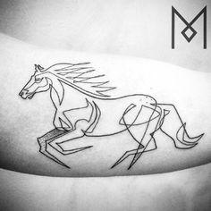 horse running, tattoo in motion by mo ganji One Line Tattoo, Line Art Tattoos, Black Tattoo Art, Body Art Tattoos, Band Tattoo, Tattoo Ink, Black Tattoos, Sleeve Tattoos, Tatoos
