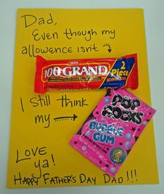 {PartyLand Utah Blog} Father's Day Mini Candy Posters