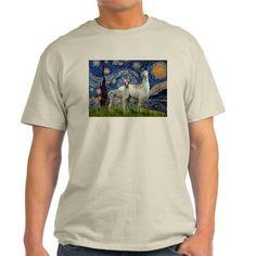 Starry Night Llama Duo T-Shirt
