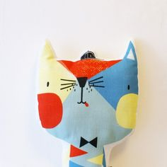 Corby Tindersticks Linen Cat Cushion - 23cm x 35cm. £25.00 + free P&P