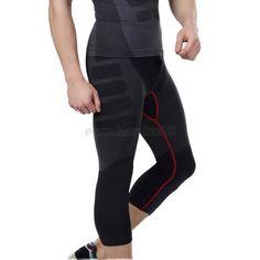 Men Tights Sport Cycling Yoga Running Pants Compression Breathable Shorts Pants…