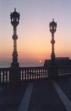 Sol poniente, Cadiz, España