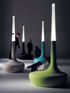 seating and light: BDLove lamp by Ross Lovegrove