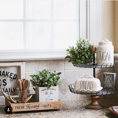 Farmhouse Kitchen Lauren B Montana Rene Mckinney Counter Decor