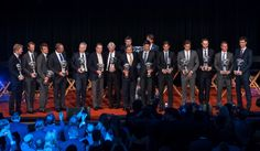 NEW YORK, NY - AUGUST 23: (L-R) Jim Courier, Stefan Edberg, Mats Wilander, Ivan Lendl, John McEnroe, Jimmy Connors, Bjorn Borg, Ilie Nastase, Novak Djokovic, Rafael Nadal, Roger Federer, Andy Roddick, Lleyton Hewitt, and Gustavo Kuerten attend the ATP Heritage Celebration at The Waldorf Astoria on August 23, 2013 in New York City. (Photo by D Dipasupil/Getty Images)