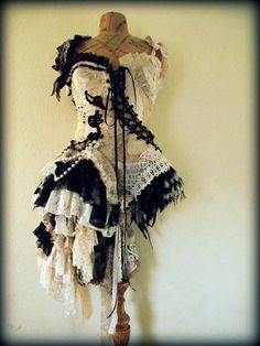 Black and white patchwork dress
