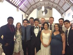 The cast at Ki Hong Lee's wedding