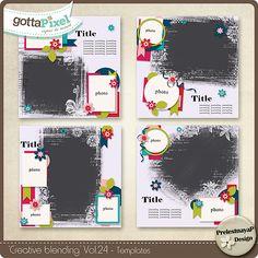 Creative blending Templates Vol.24 :: Gotta Grab It :: Gotta Pixel Digital Scrapbook Store