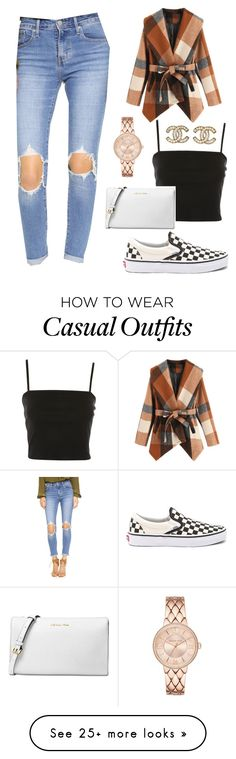 """Casual trendy look"" by caitlinannx on Polyvore featuring Vans, Levi's, Topshop, Michael Kors and Chanel"