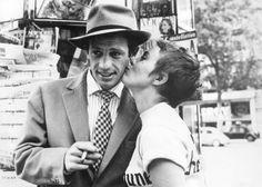 Jean-Paul Belmondon et Jean Seberg dans À bout de souffle de Jean-Luc Godard (1960)