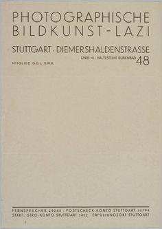 Letterhead. Adolf Lazi, 1932.