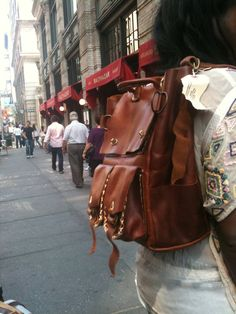 Leather back pack rucksack convertible back by LUSCIOUSLEATHERNYC, $499.00