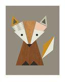 Geometric Fox Poster von Little Design Haus