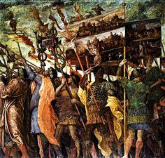 Trumpeters, 1490-1506 - Andrea Mantegna
