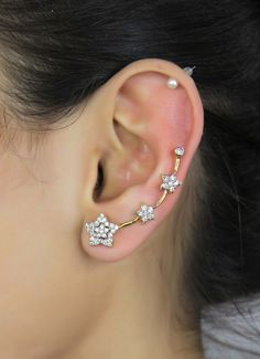 New Fashion Earring With Ear Cuff Wrap Clip Earring Bollywood jewelry