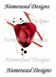 #rosetattoo #tattoo #tattoodesign #design follow me on instagram namerased_tattoos or like my facebook page https://www.facebook.com/NameErasedTattooFlashDesign