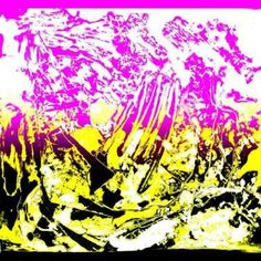Twins Pink White Yellow Black Limited Edition Print