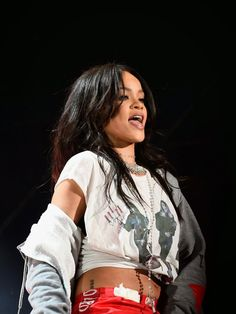 Rihanna performs at NCAA's March Madness Music Festival in Indianapolis