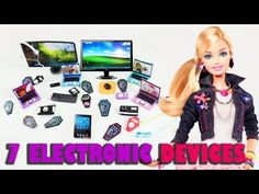How to make 7 personal electronics for your dolls - Doll crafts - YouTube