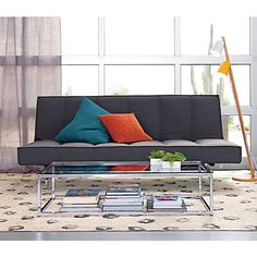 """$999 - For Hotel Lounge or Oversized ottoman somewhere? LOVE THESE! :P - overall: 80""""Wx37.5""""Dx33.5""""H  seat: 15""""H  bed: 80""""Wx49""""Dx15""""H - flex gravel sleeper sofa in sofas 