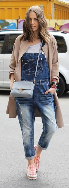 Ripped Overalls Streetstyle by Fashion And Style