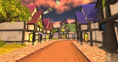 Fantasy, Woodland, Fairy Tales, Bright, Mansions, Street, House Styles, Manor Houses, Villas