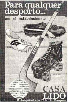 Anúncio da casa Lido  Casa de artigos de desporto (onde comprava as famosas sapatilhas brancas)