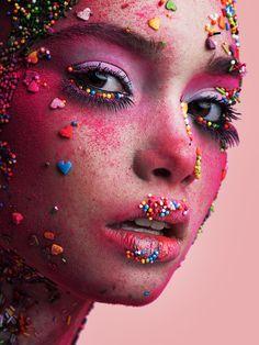 Cross Connect Magazine presents a really fun, creative makeup look using sprinkles! Makeup Geek, Eyeshadow Makeup, Makeup Art, Eyeshadow Palette, Makeup Ideas, Hair Makeup, Airbrush Makeup, Makeup Inspiration, Beauty Photography