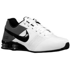 mens nike shox deliver grey red