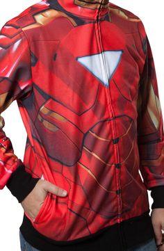 Sublimated Iron Man Costume Hoodie: Marvel Comics Avengers Mens Hoodie