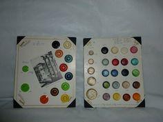 ttonArtMuseum.com - 2 Vintage and Complete B G E Button Sample Cards 37 Buttons