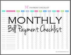 It's so easy to forget bills. Track every bill and stay on track in 2015 with this cute, free monthly bill pay checklist printable.