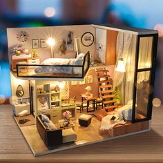 Toys & Hobbies Architecture/diy House/mininatures 2018 New Style Birthday/valentine/hallowmas/christmas Gifts Diy 3d Miniature Model Kits Assemble Toys Creative Diary Dollhouse