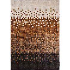 Коричневый ковер пазл из шкур PUZZLE BROWN #carpet #carpets #rugs #rug #interior…
