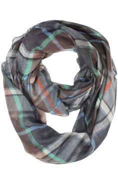 Rory Plaid Infinity Scarf #scarvesdotnet