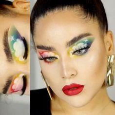 Rainbow Flower Eye M Rainbow Flower Eye M Rainbow Flower Eye M Rainbow Flower … – Halloween Make Up Ideas Make Up Looks, Halloween Makeup Looks, Halloween Make Up, Creepy Halloween, Beauty Tutorials, Beauty Hacks, Beauty Care, Makeup Art, Makeup Tips