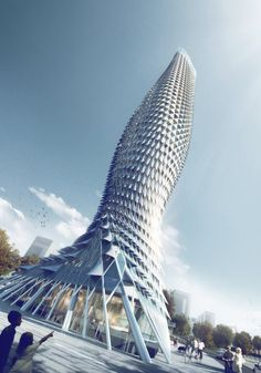 RMJM brightens riverside district of doumen china with observation tower