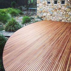 Curve Deck #timber #blackbutt #decks @wisconconstructions