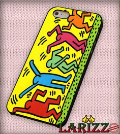 """Celebrating Keith Haring for iPhone 4/4s, iPhone 5/5S/5C/6/6 , Samsung S3/S4/S5, Samsung Note 3/4 Case """"007"""""""