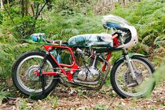 A classic Ducati 350 inspired by Hayao Miyazaki's anime epic, 'Princess Mononoke.' By El Solitario