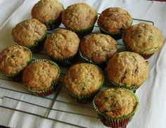 I found this recipe in Cooking Light magazine. The muffins are easy, delicious, and relatively healthy. I typically double the batch to make 24 muffins. Yum!