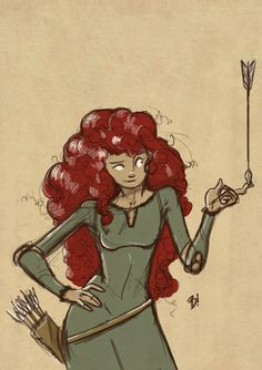 "Merida, from Disney's ""Brave."""