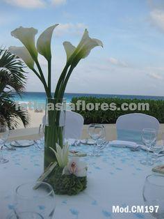 #white calla lilies #wedding #centerpiece