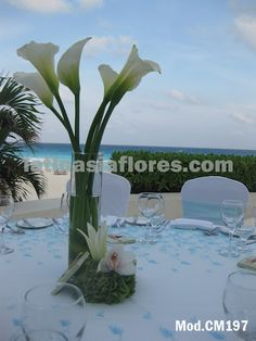 #white calla lilies #wedding #centerpiece