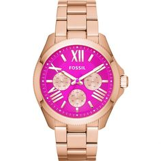 best fashion acessories Top 10 Watches for Women in Fossil 2014 Spring Collection Cecile Multifunction Stainless Steel Watch – Rose Gold-Ton. Stainless Steel Watch, Stainless Steel Bracelet, Fossil Watches, Women's Watches, Rose Gold Pink, Rose Gold Watches, Rose Gold Plates, Bracelet Watch, Jewelry Watches