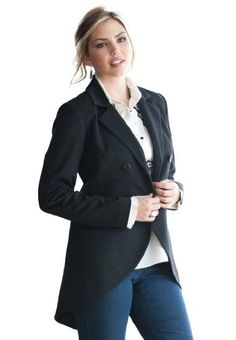 Jessica London Women's Plus Size Long Blazer Jet Black,12. Plus Size Suiting by Jessica London. Double-breasted day-to-night plus size blazer in a new tailored shape thats a cut above the rest. This longer-length womens blazer includes the following features: Notch collar Princess seams Seamed empire waist Front length 27 long, back length 34 long Polyesterrayonspandex Machine wash Imported Fashion never has to be compromised when shopping online for plus size clothing when you shop at…