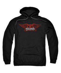 Another great find on #zulily! Black 'Aerosmith' Logo Hoodie - Adult by  #zulilyfinds